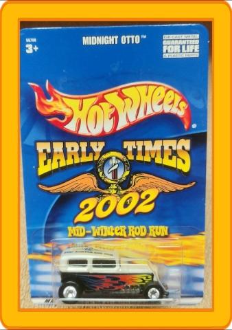 Hot Wheels Early Times 2002 Mid-Winter Rod Run Midnight Otto