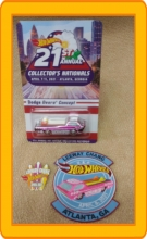21st Annual Hot Wheels Nationals Dodge Deora Concept with button and pin 2021